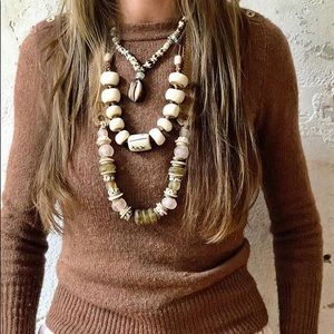Twine & Twig Mid Classic Blush and Olive Necklace